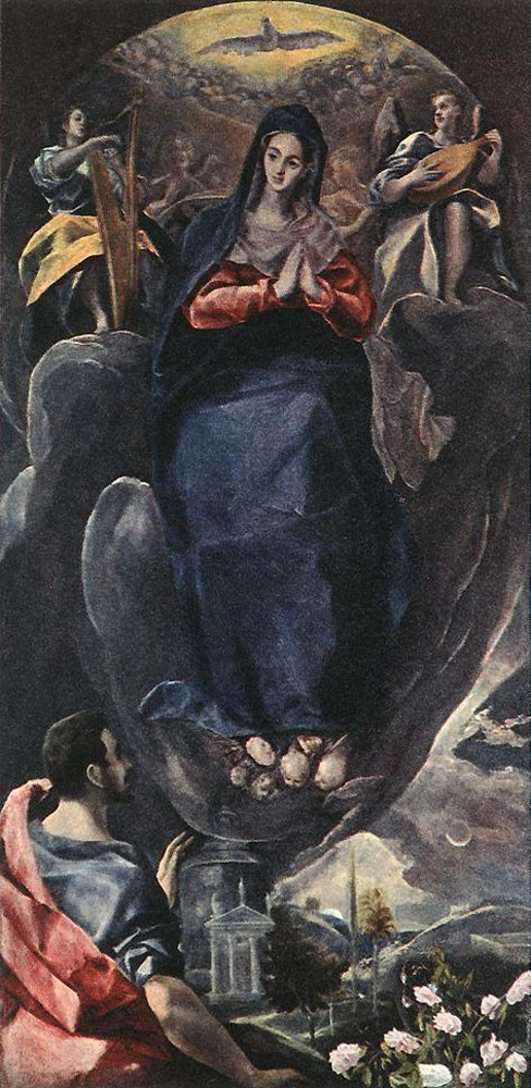 The Virgin of the Immaculate Conception and St John by Doménikos Theotokópoulos (el Greco)