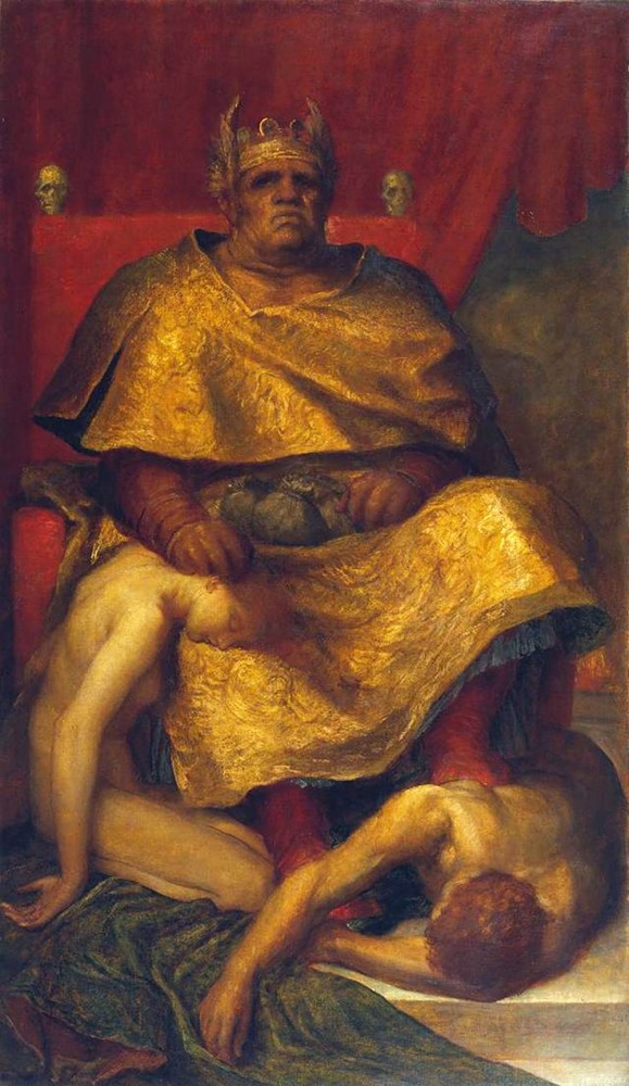 Mammon 1885 by George Frederic Watts