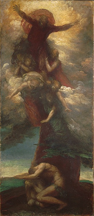 The Denunciation of Adam and Eve by George Frederic Watts