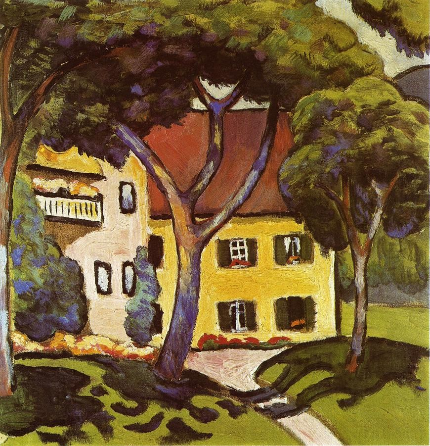 Staudachers House At Tegernsee by August Macke