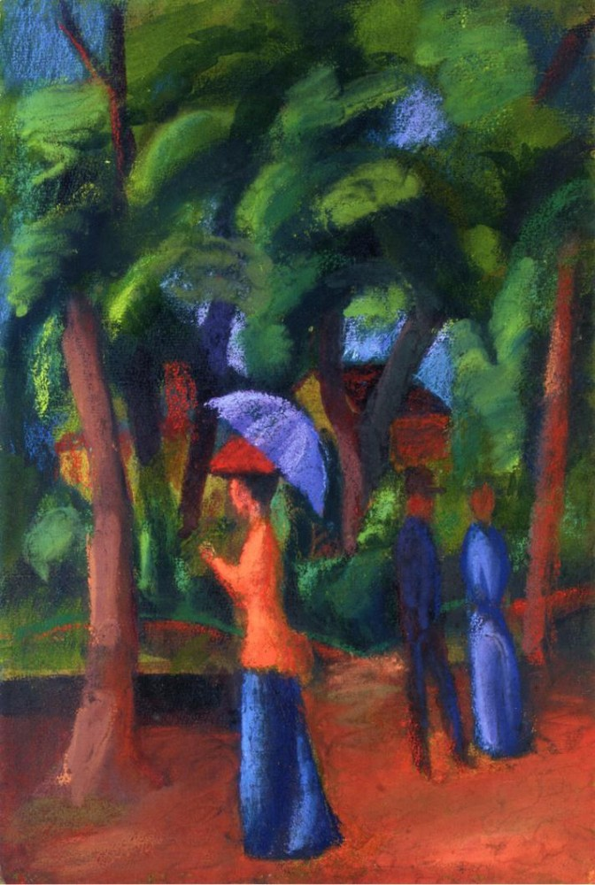 Walking In The Park by August Macke