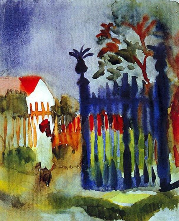 Garden gate by August Macke