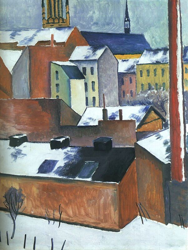St Mary's in the Snow by August Macke