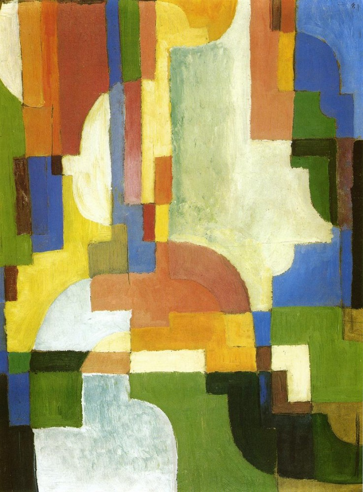 Colored Forms I by August Macke