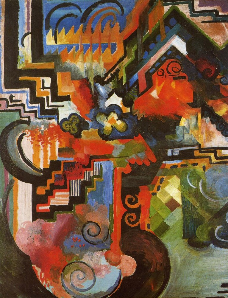 Coloured Composition by August Macke