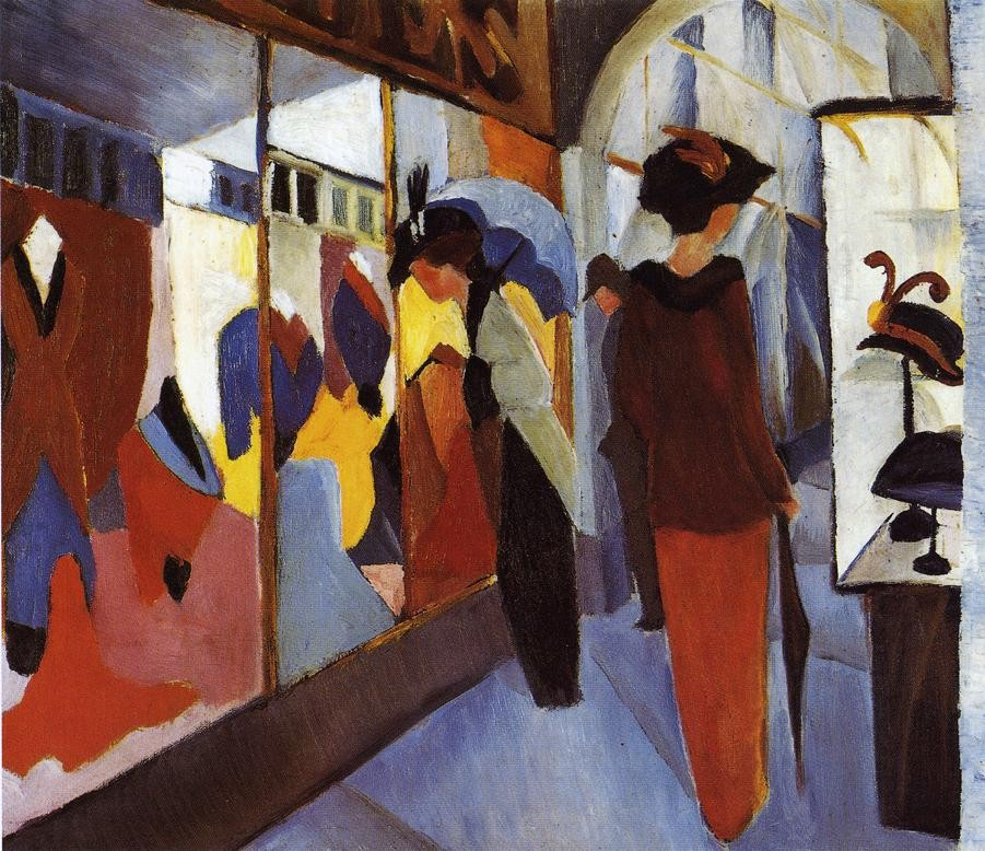 Fashion Shop by August Macke