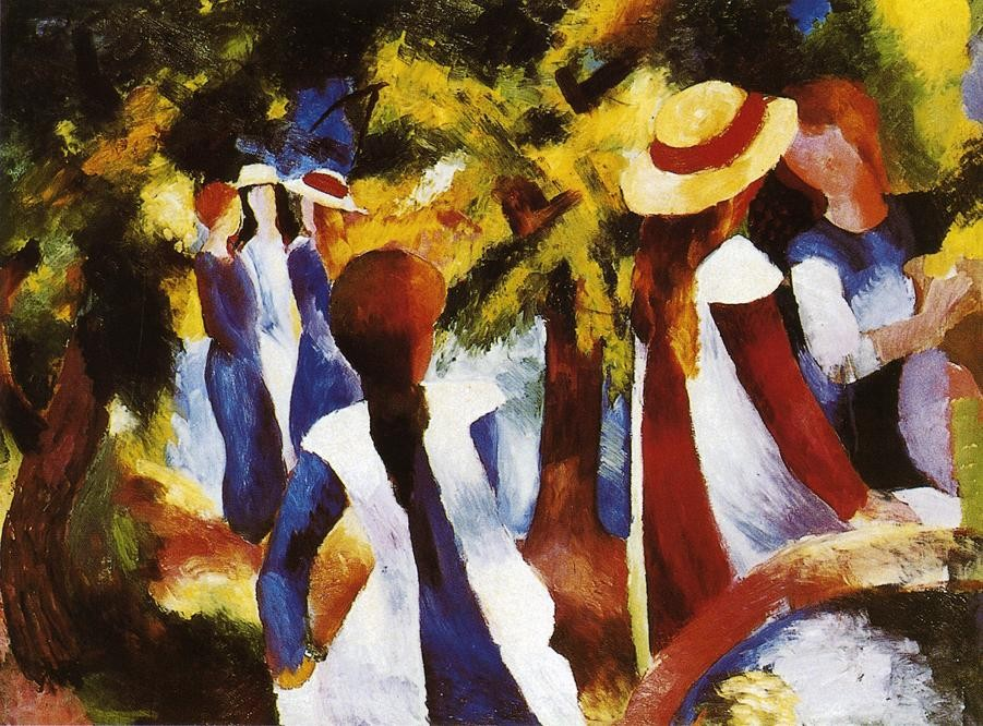 Girls Under Trees by August Macke