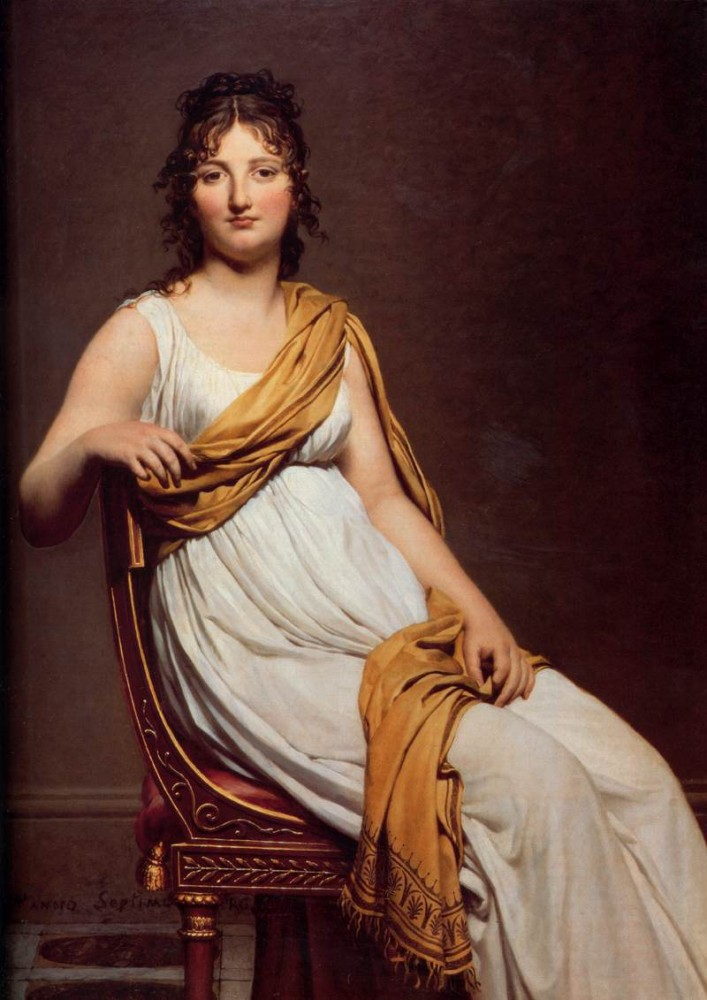 Madame Raymond de Verninac by Jacques-Louis David
