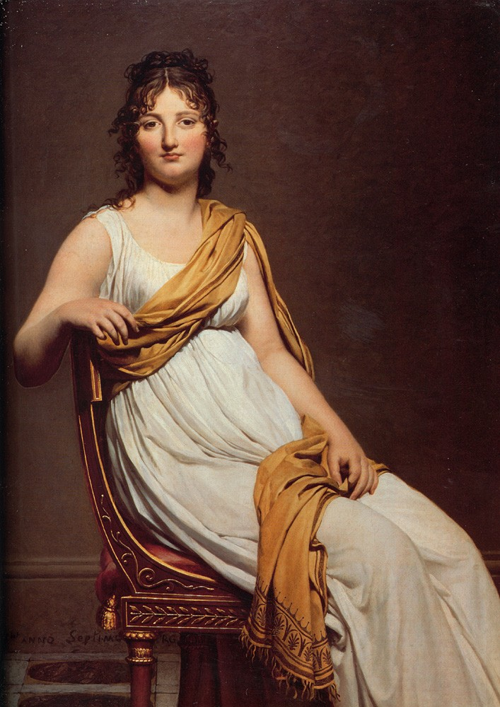 Portrait of Henriette de Verninac by Jacques-Louis David