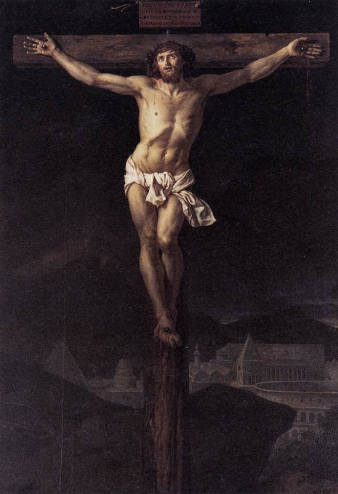 Christ on the Cross by Jacques-Louis David
