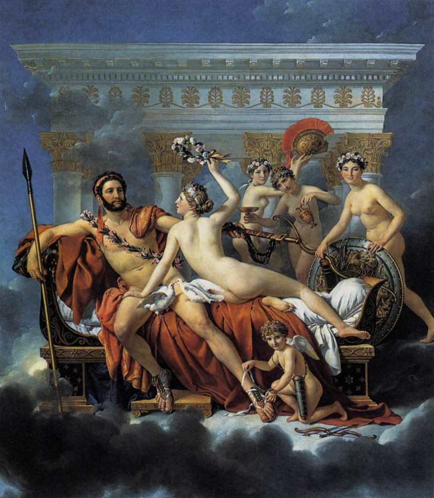 Mars Disarmed by Venus and theThree Graces by Jacques-Louis David