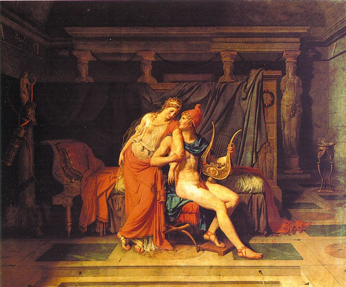 paris and helen by Jacques-Louis David