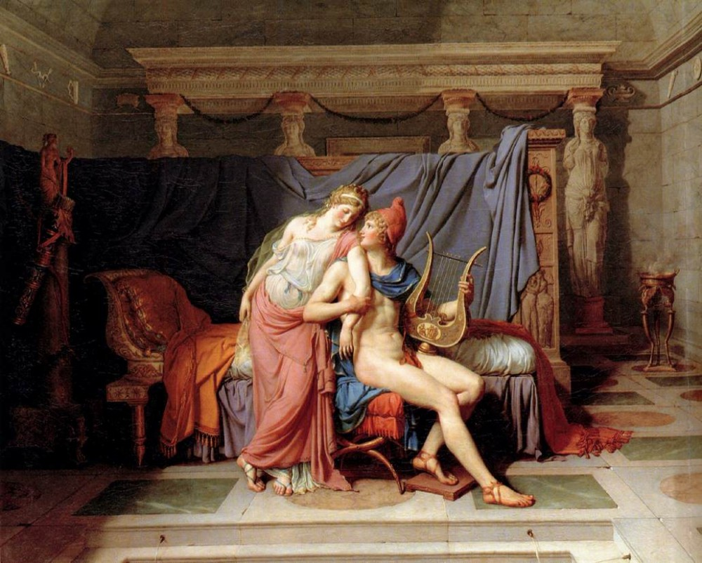 The Loves of Paris and Helen by Jacques-Louis David