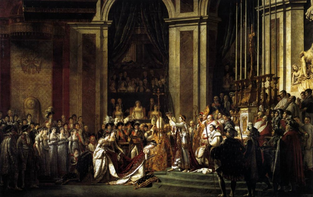 Consecration of the Emperor Napoleon I and Coronation of the Empress Josephin by Jacques-Louis David