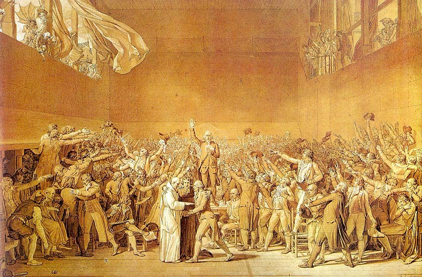 The Tennis Court Oath by Jacques-Louis David