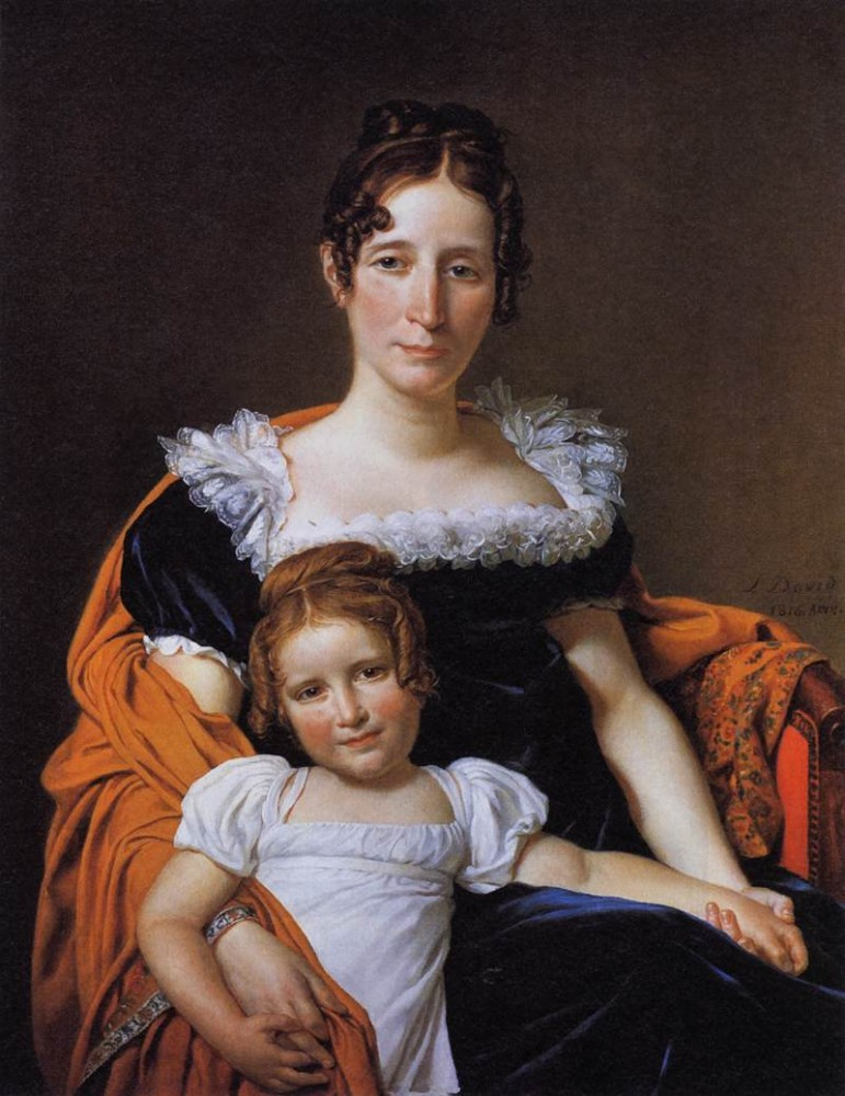 Portrait of the Comtesse Vilain XIIII and her Daughter by Jacques-Louis David