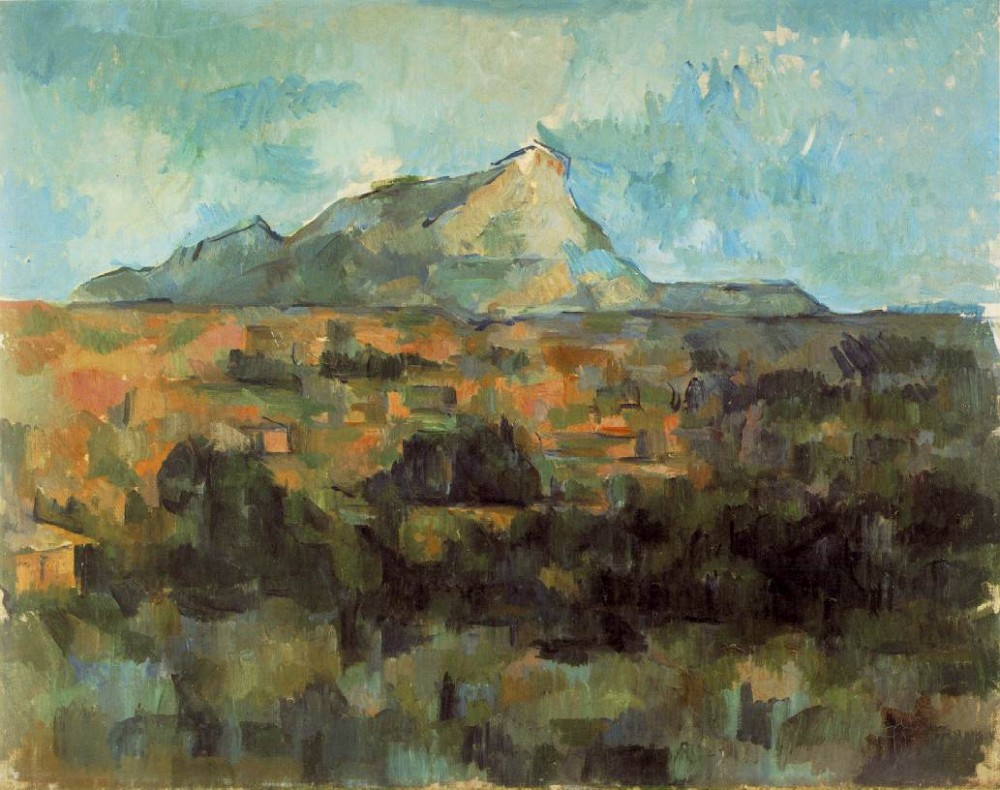 Mont Sainte-Victoire Seen from Les Lauves by Paul Cézanne