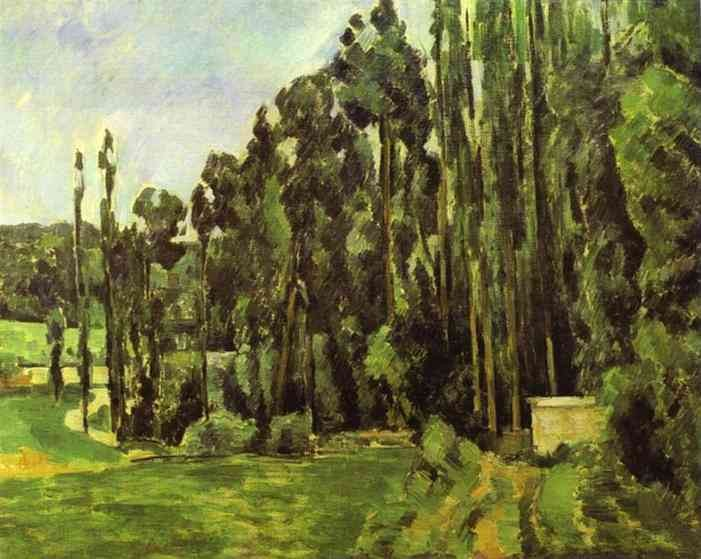 Poplar Trees by Paul Cézanne