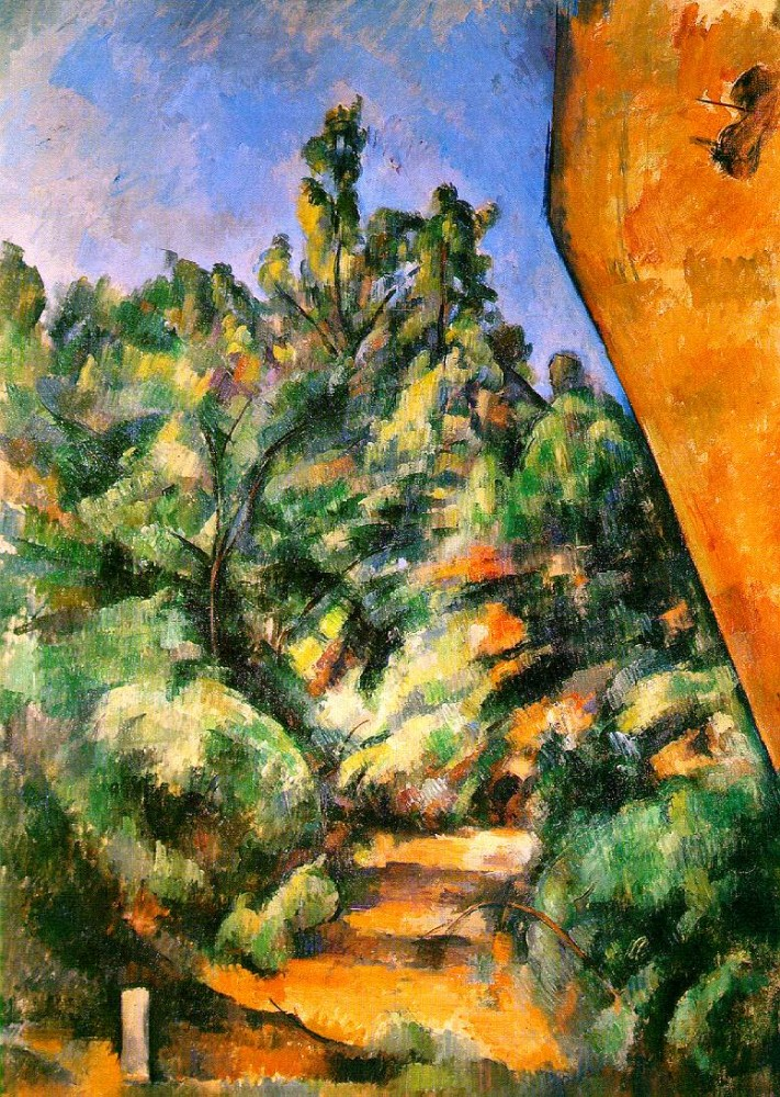 The Red Rock by Paul Cézanne