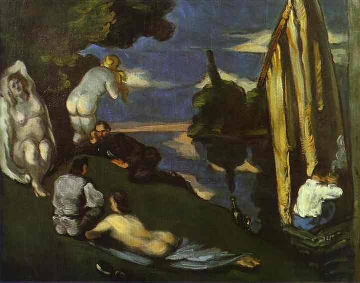 Idyll by Paul Cézanne