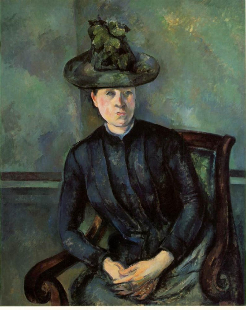 Woman in a Green Hat (Madame Cézanne) by Paul Cézanne