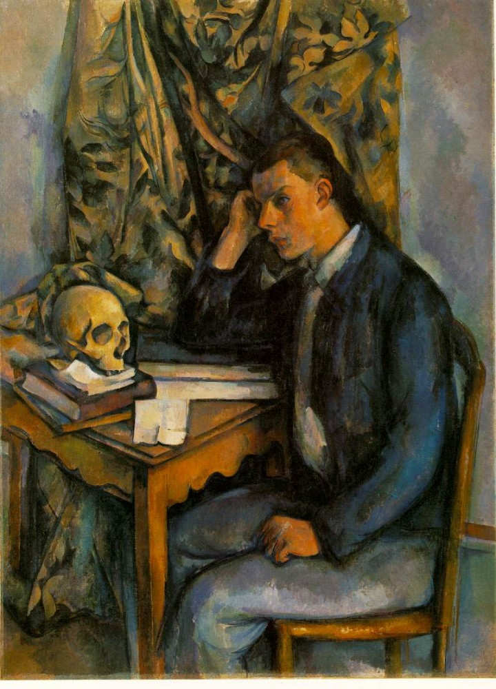 Boy with Skull by Paul Cézanne