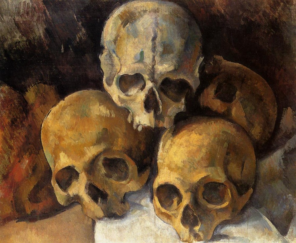 Pyramid of Skulls by Paul Cézanne