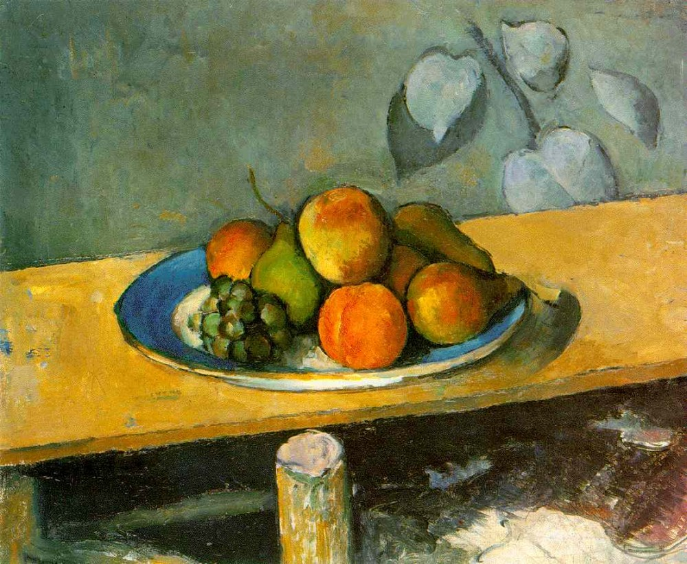 Apples, Peaches, Pears, and Grapes by Paul Cézanne