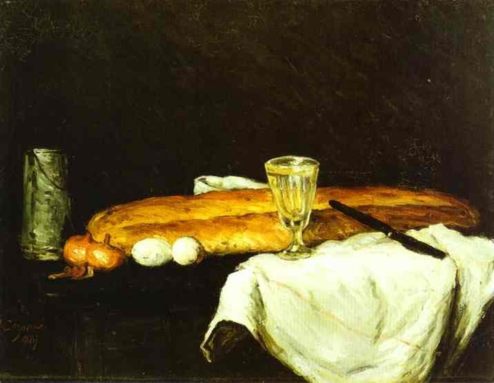 Bread and Eggs by Paul Cézanne