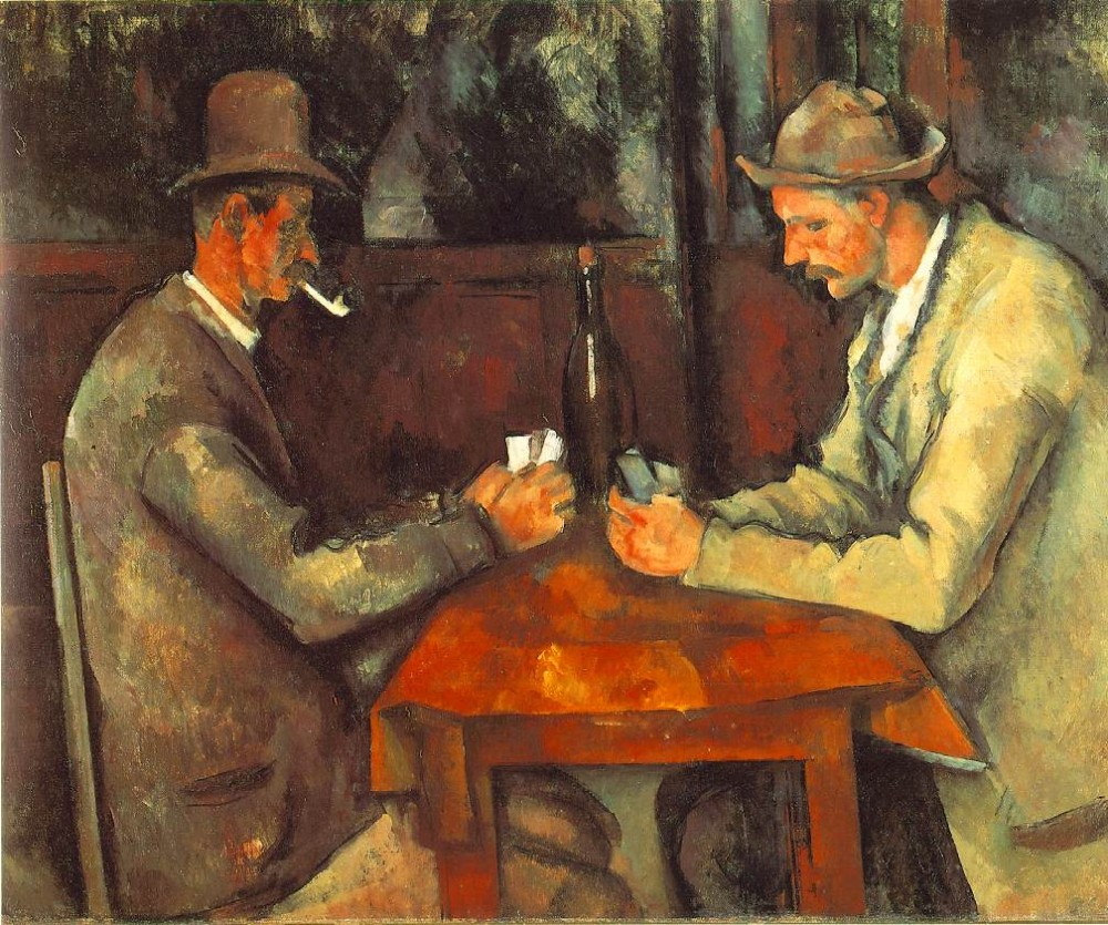 Men Playing Cards by Paul Cézanne