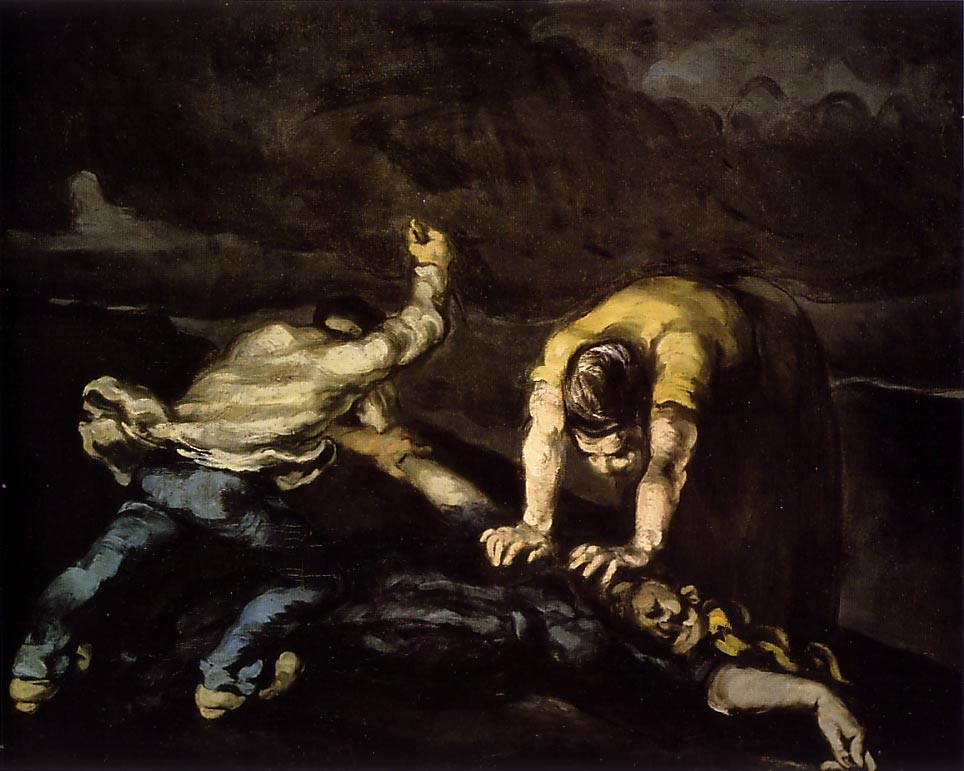The Murder by Paul Cézanne
