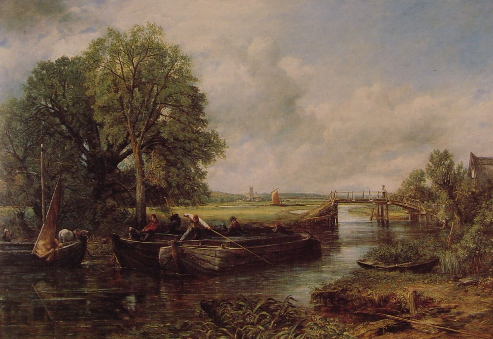 A View on the Stour Near Dedham by John Constable