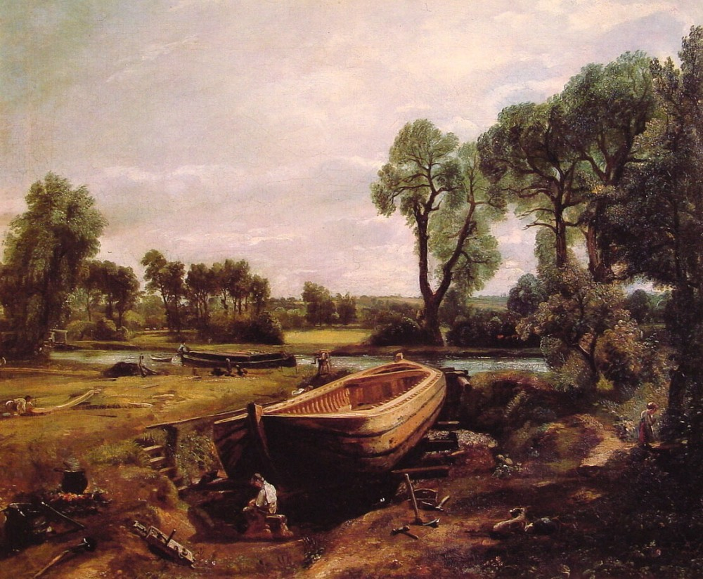Boat Building by John Constable