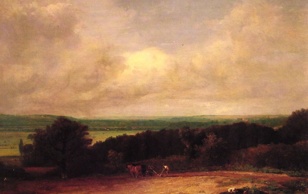 Landscape Ploughing Scene in Suffolk by John Constable