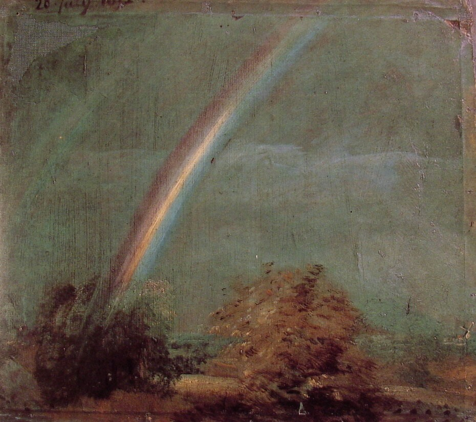 Landscape with a Double Rainbow by John Constable