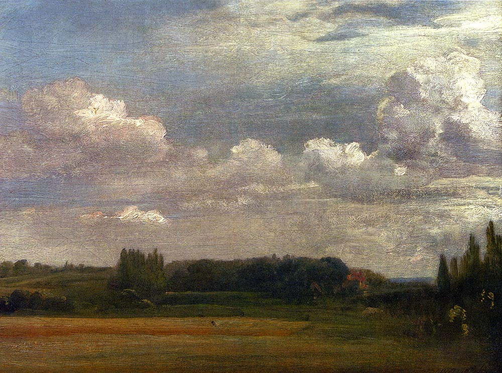 View Towards The Rectory From East Bergholt House by John Constable
