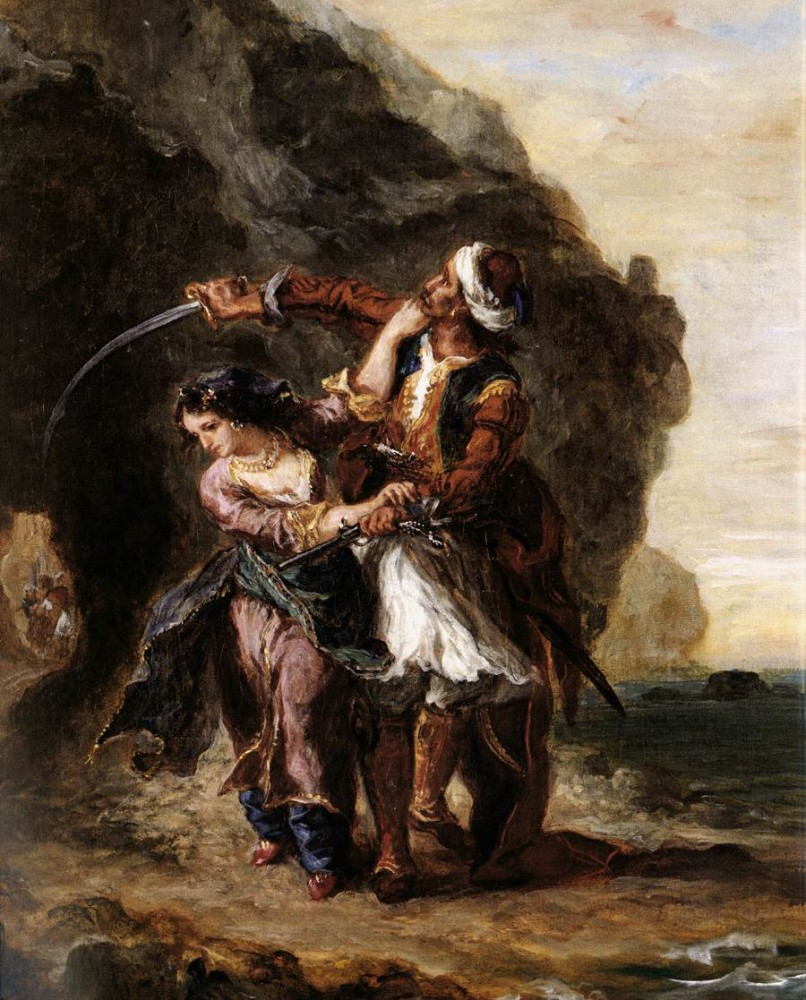 The Bride of Abydos by Ferdinand Victor Eugène Delacroix