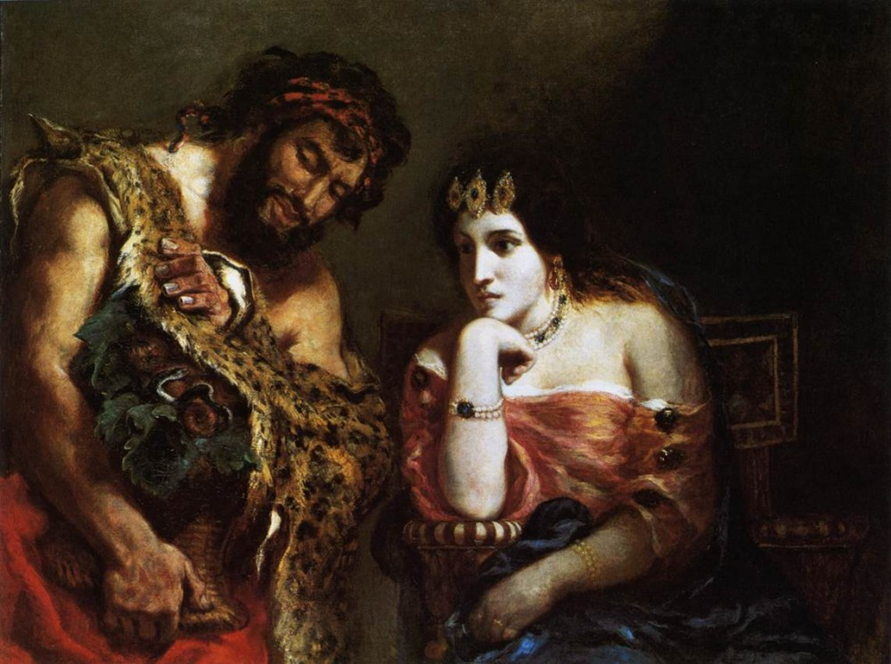 Cleopatra and the Peasant by Ferdinand Victor Eugène Delacroix