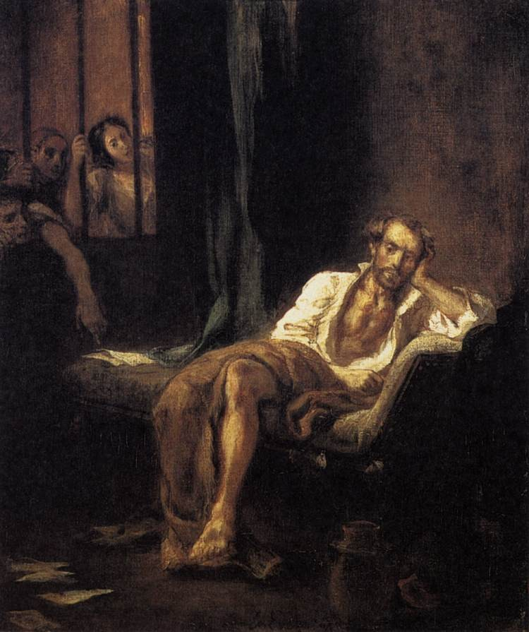 Tasso in the Madhouse by Ferdinand Victor Eugène Delacroix