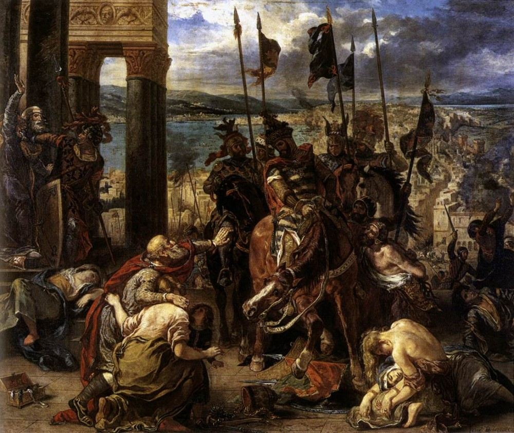 The Entry of the Crusaders into Constantinople by Ferdinand Victor Eugène Delacroix