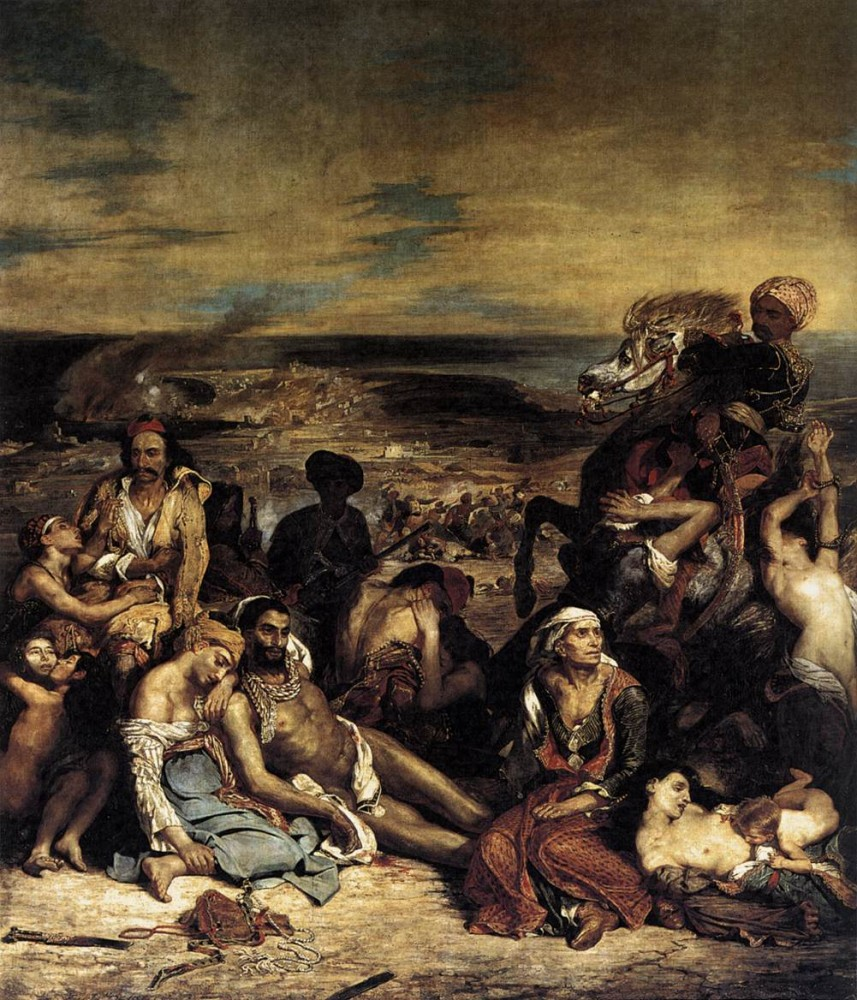The Massacre at Chios by Ferdinand Victor Eugène Delacroix