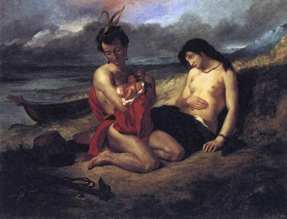 The Natchez by Ferdinand Victor Eugène Delacroix