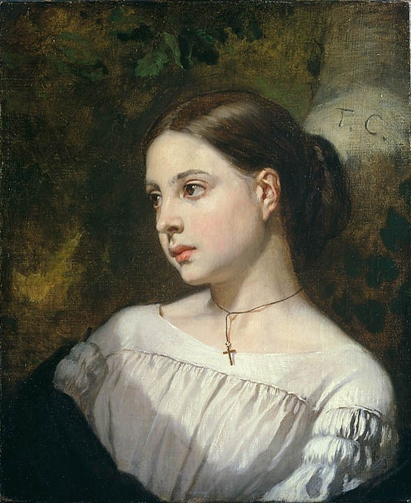 Portrait Of A Girl by Thomas Couture