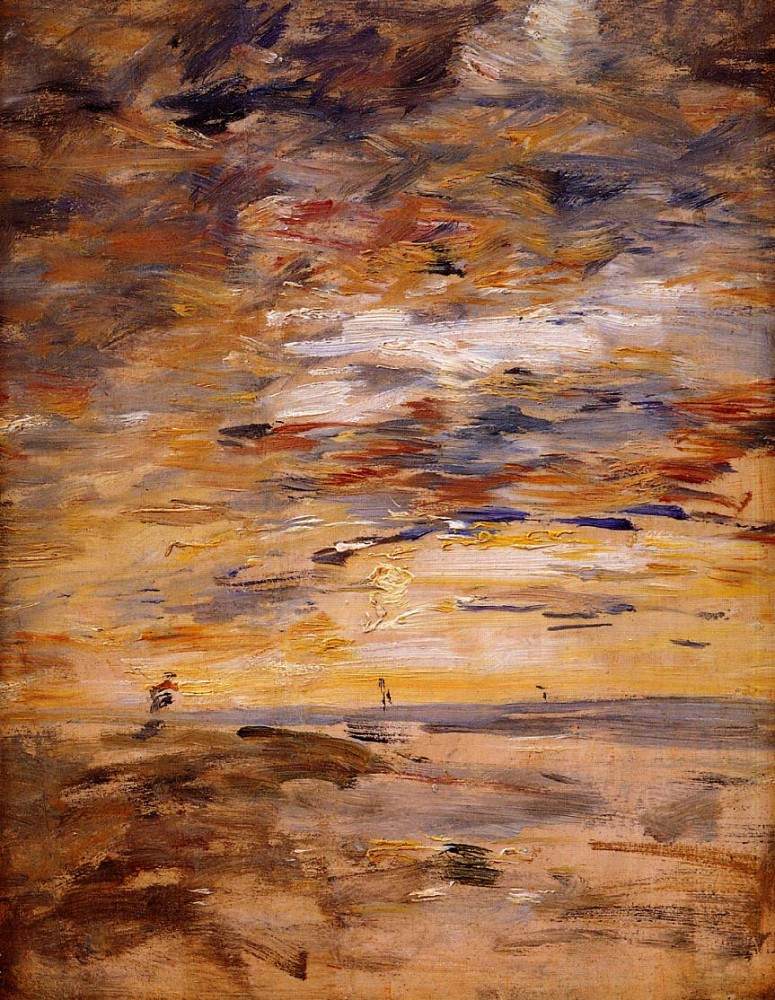 Sky at Sunset by Eugène Boudin
