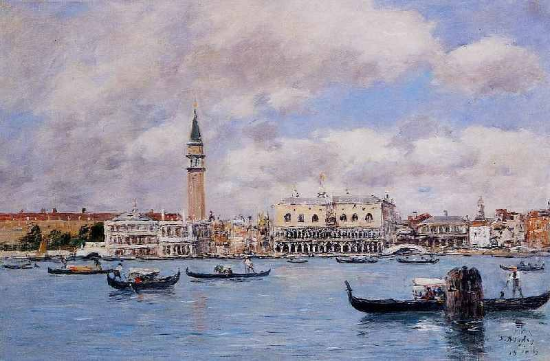 Venice, the Campanile, the Ducal Palace and the Piazetta by Eugène Boudin
