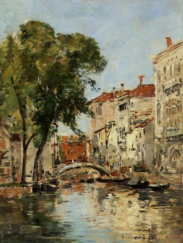 A Small Canal in Venice by Eugène Boudin