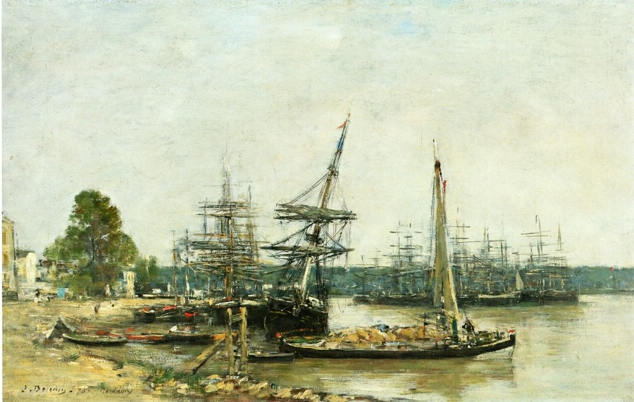 Bordeaux, Moored Boats on the Garonne by Eugène Boudin