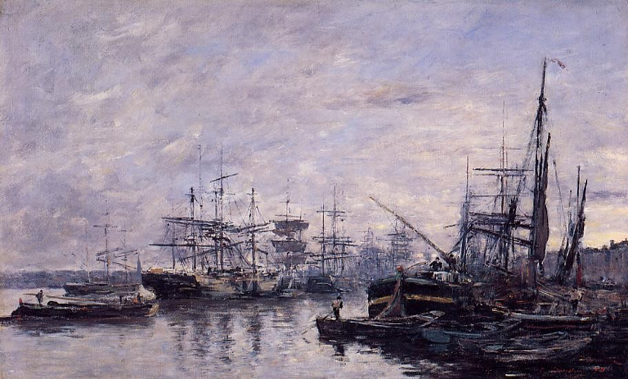 Bordeaux, the Port by Eugène Boudin