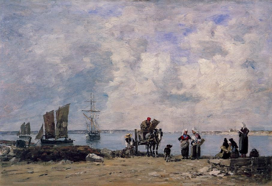 Fishermen's Wives at the Seaside by Eugène Boudin