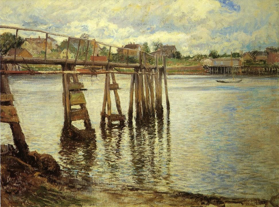 Jetty at Low Tide aka The Water Pier by Joseph Rodefer DeCamp
